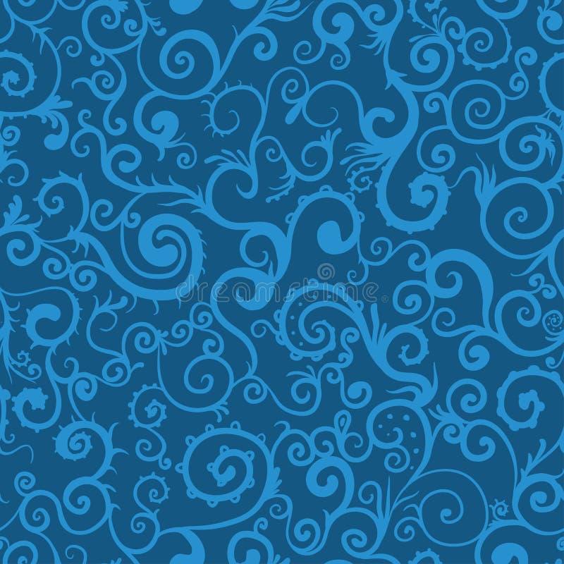 Seamless virvla runt mönstrar bakgrund arkivbilder