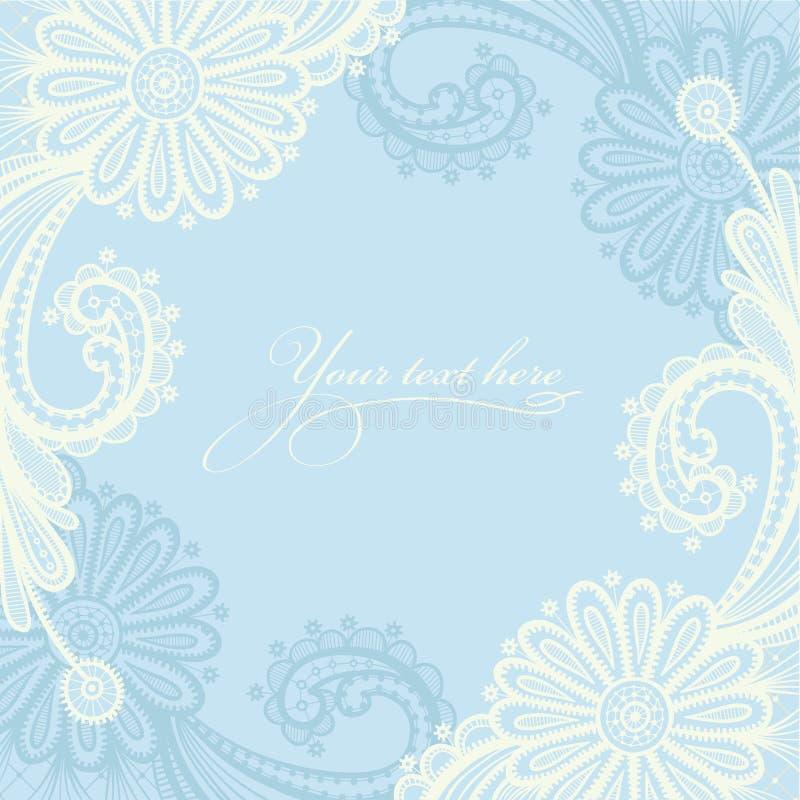 Seamless vit snör åt blom- mönstrar vektor illustrationer