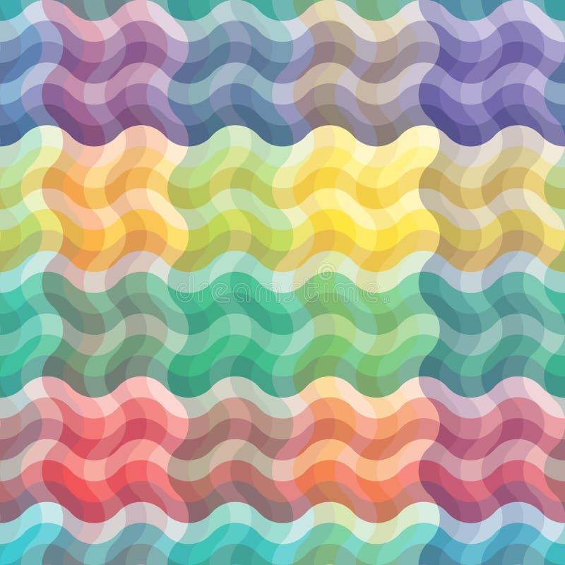 Seamless vivid wave pattern