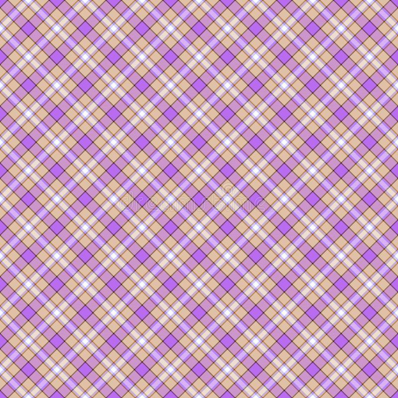 Seamless wall-paper, plaid, beige and lilac vector illustration