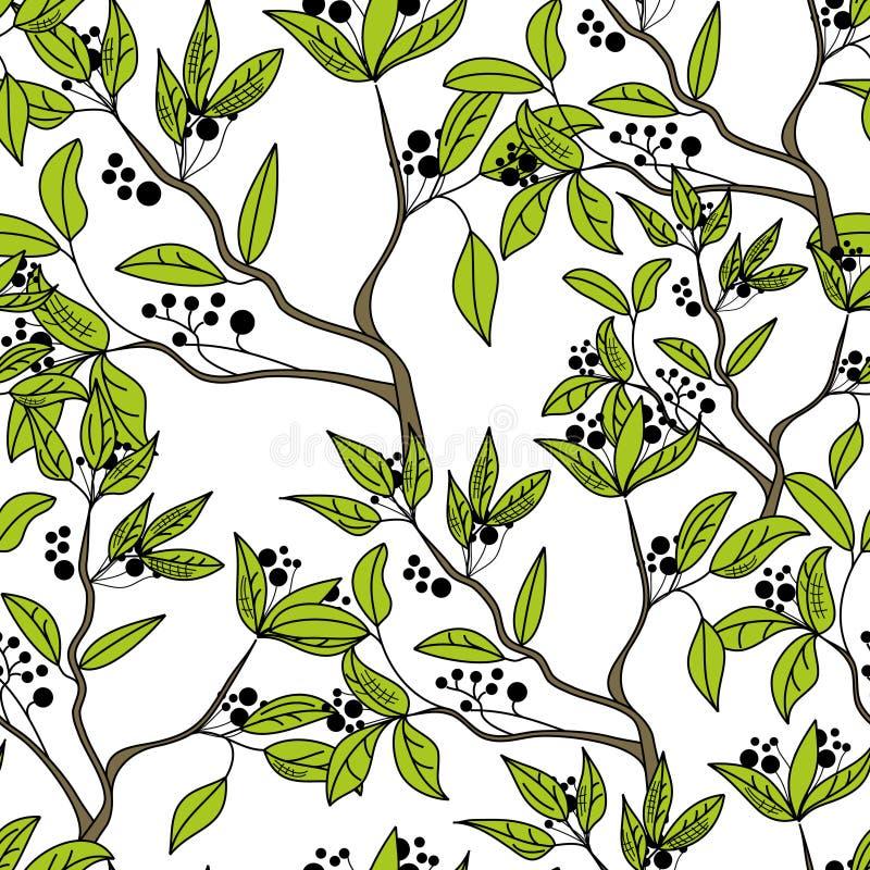 Download Seamless wallpaper stock vector. Image of backdrop, berries - 14071670