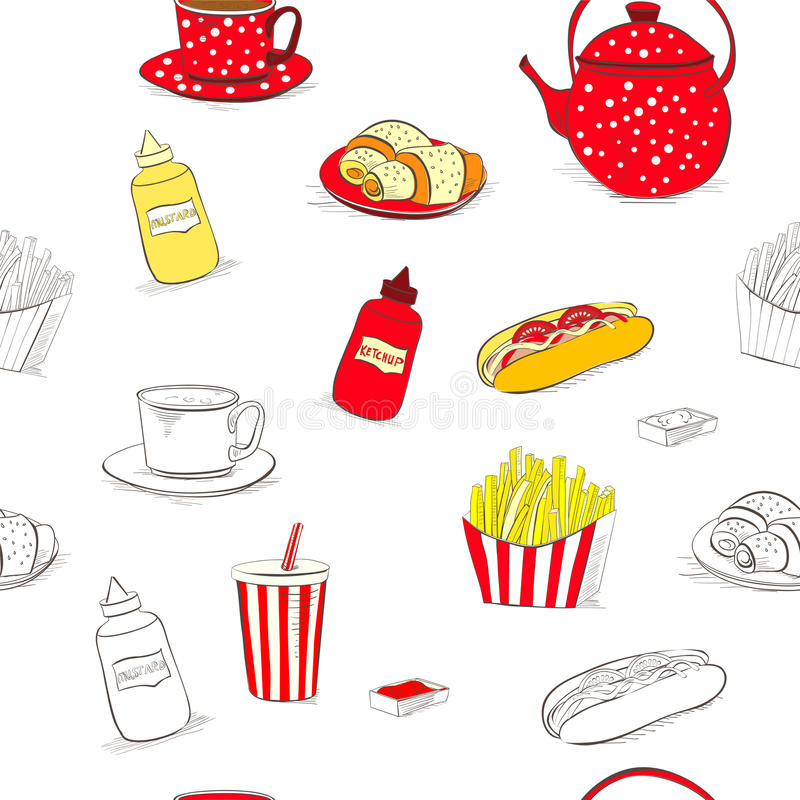 Download Seamless wallpaper stock vector. Image of fries, rusty - 25554455