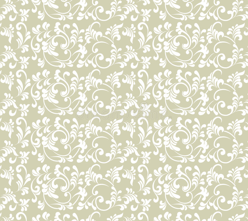 Seamless Wallpaper. Exquisite pattern painted on light gray background vector illustration