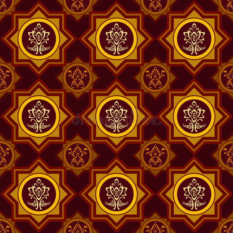 Seamless Wallpaper Background Tile Stock Images