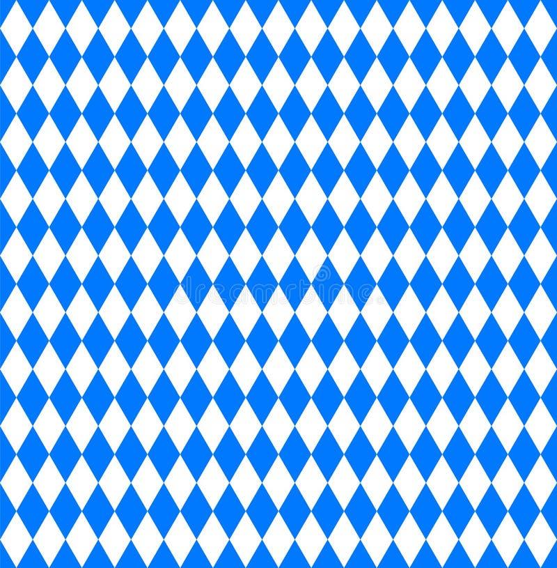 Seamless wallpaper. Bavarian Oktoberfest flag. Vector illustration royalty free illustration