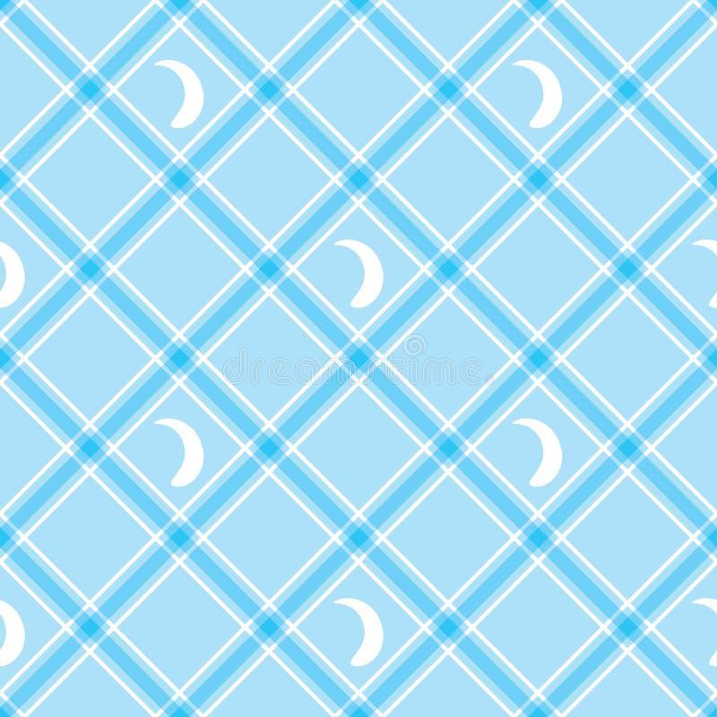 seamless wallpaper blått rutigt för bakgrund tablecloth stock illustrationer