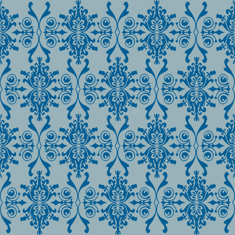 Download Seamless Wallpaper Of Classic Floral Pattern Stock Photo - Image: 17031090