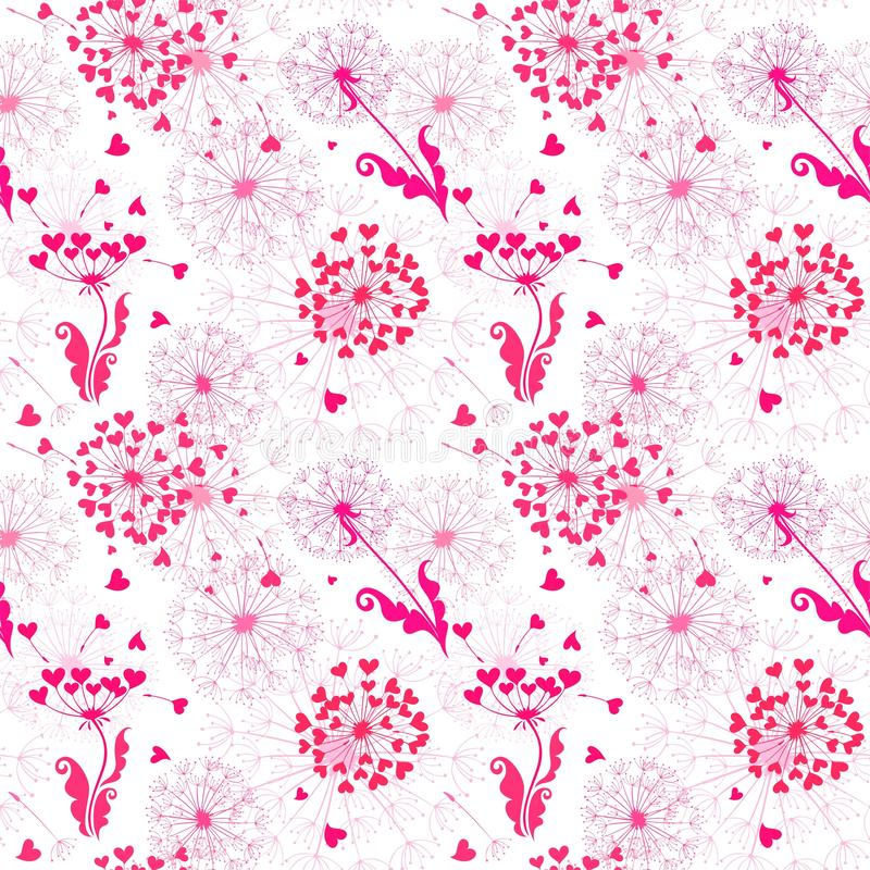 Wallpaper With Cute Pink Flamingo Stock Vector