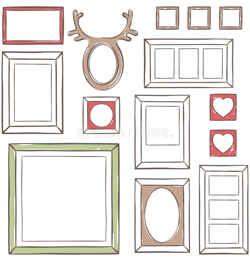 Seamless wallpaper with different frames royalty free illustration