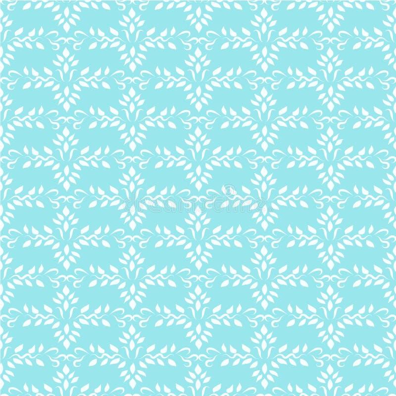 seamless wallpaper för blå indisk prydnad royaltyfri illustrationer