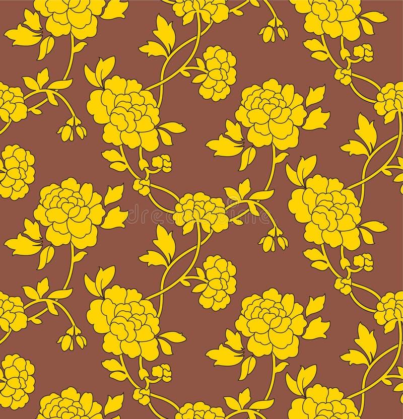 seamless wallpaper för blomma royaltyfri bild