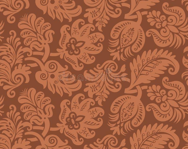 seamless wallpaper för klassisk modell vektor illustrationer