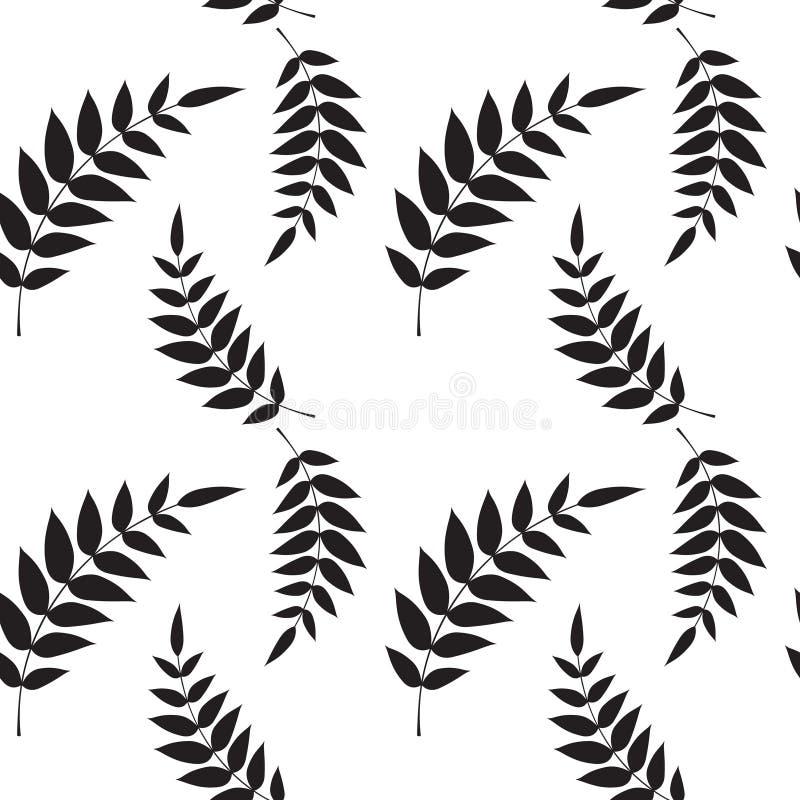 seamless wallpaper för leaf royaltyfri illustrationer