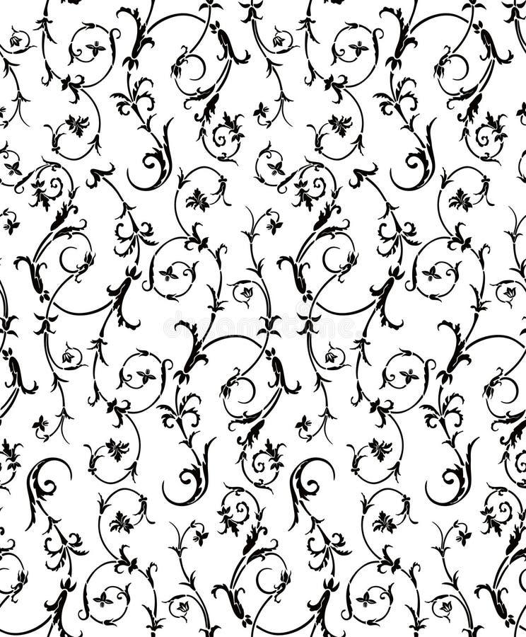 seamless wallpaper för renässans vektor illustrationer