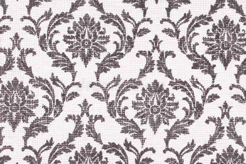 Seamless wallpaper. A fashionable modern black white floral wallpaper royalty free stock photo