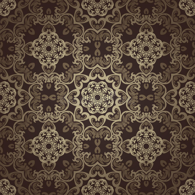 seamless wallpaper Islamisk motivbakgrund royaltyfri illustrationer