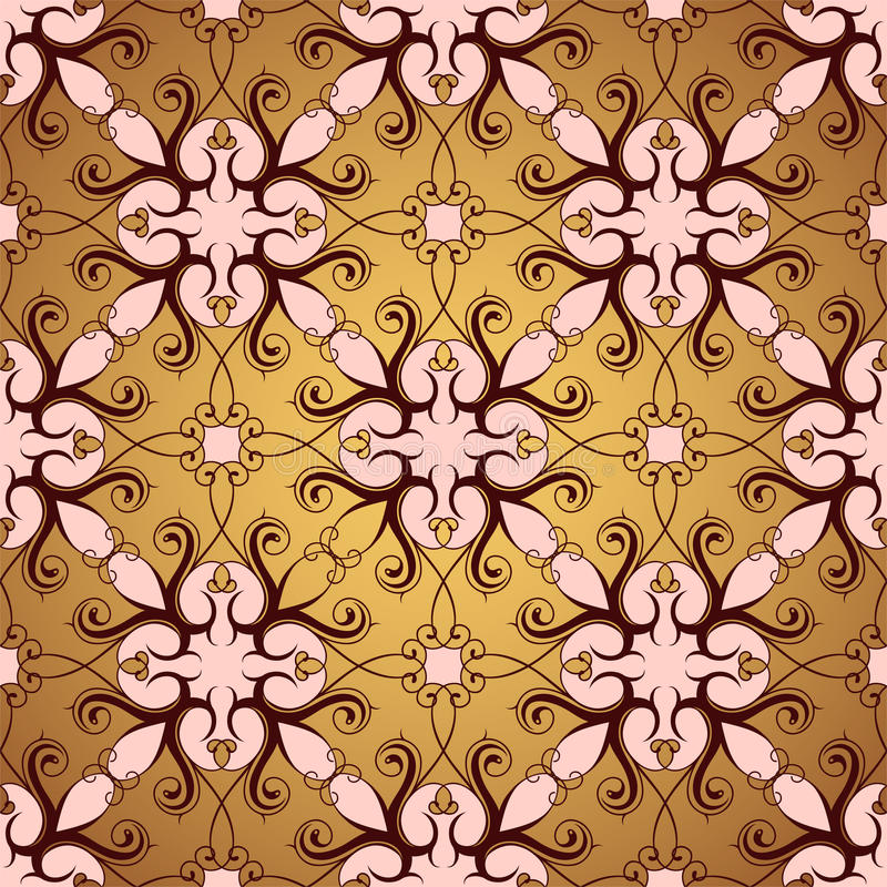 Seamless wallpaper ornament stock photography