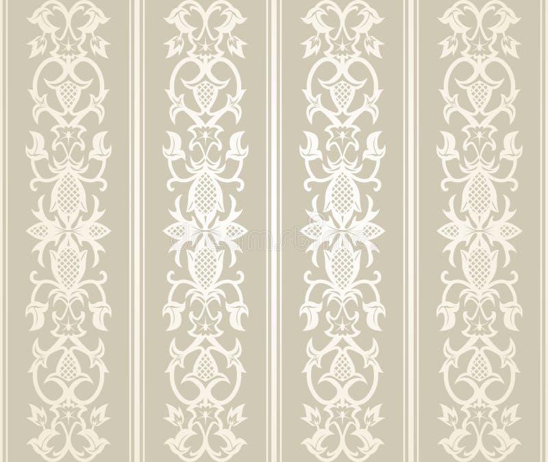 Seamless Wallpaper Pattern. In vintage style stock illustration