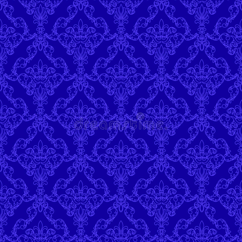 Seamless wallpaper pattern royalty free illustration