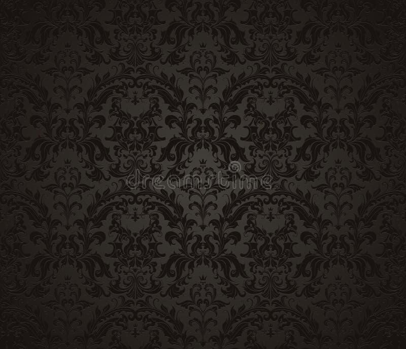 Seamless wallpaper pattern royalty free illustration