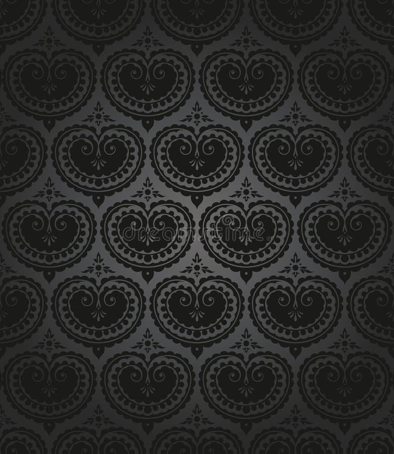 Download Seamless wallpaper pattern stock vector. Illustration of baroque - 23644734