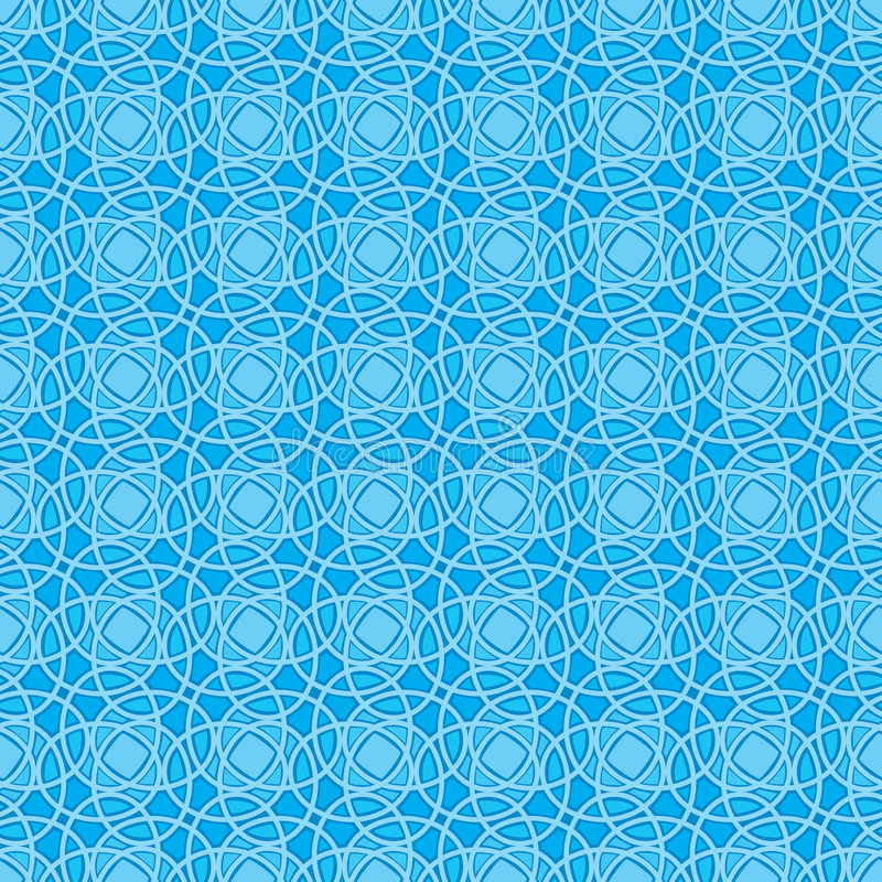 Seamless Wallpaper Pattern in Blue vector illustration