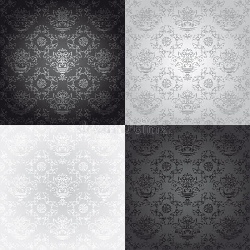Free Seamless Wallpaper Pattern, Floral Stock Image - 18430101