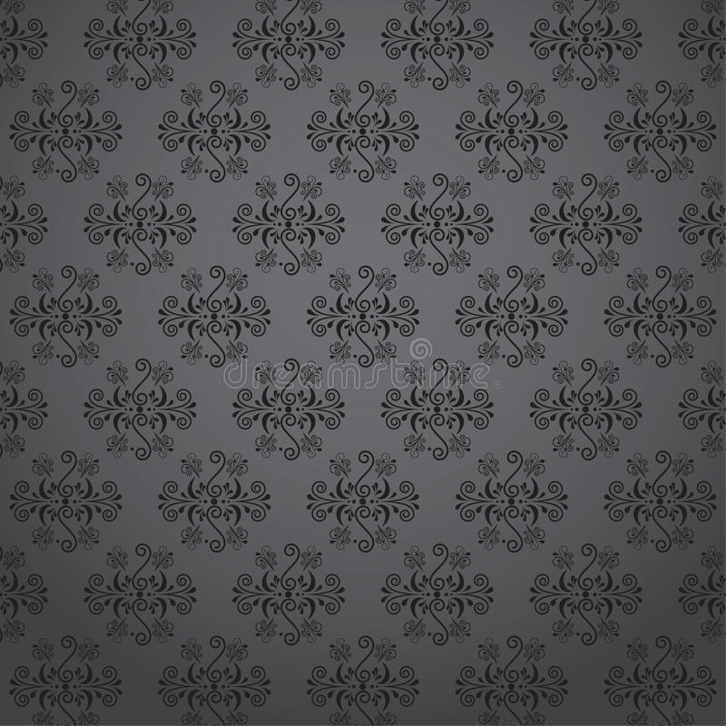 Seamless wallpaper pattern - Illustration. royalty free stock image