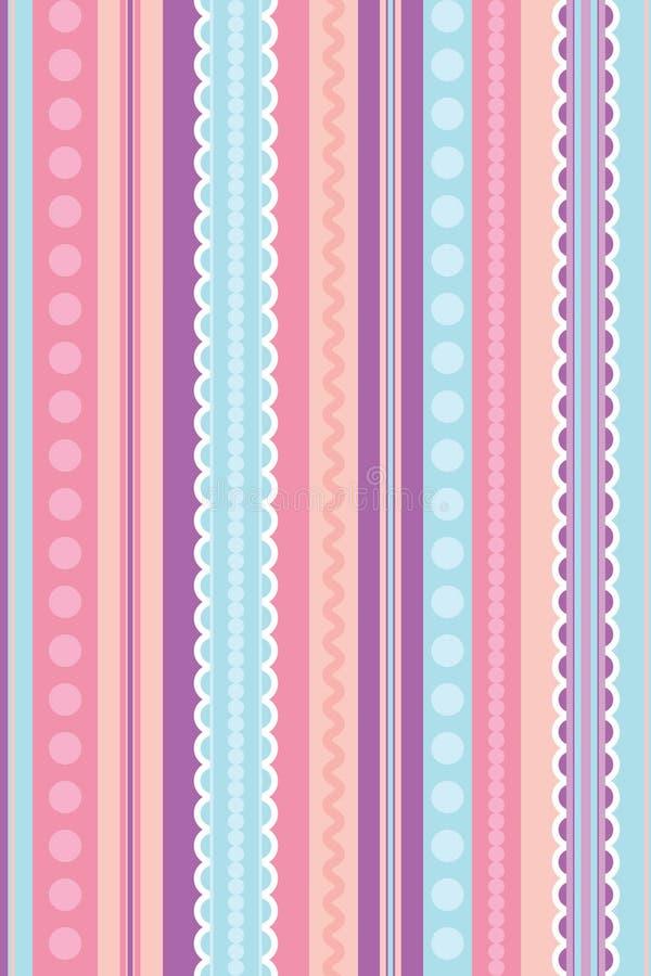 Seamless wallpaper vector illustration stock illustration