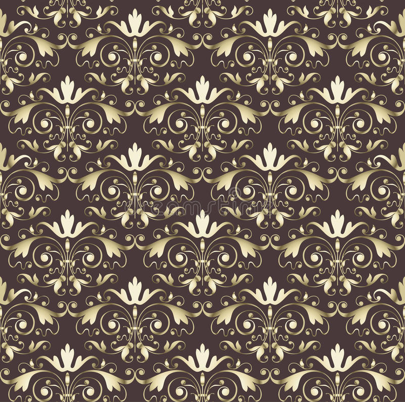 Download Seamless Wallpaper Vintage Gold Stock Vector - Image: 19160835
