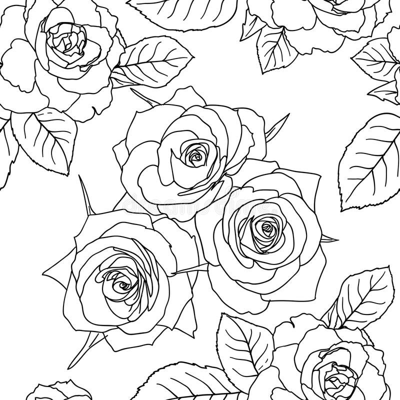Free Seamless Wallpaper With Rose Flowers Royalty Free Stock Photo - 18921965
