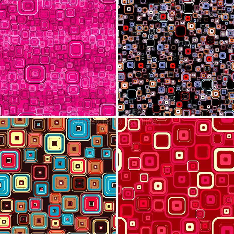seamless wallpapers för samling stock illustrationer