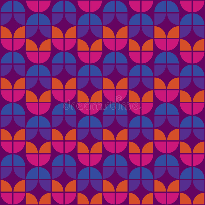 Download Seamless Warm Retro Pattern Stock Vector - Image: 27740797