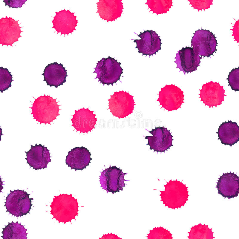 Seamless Watercolor Background with pink blots royalty free illustration