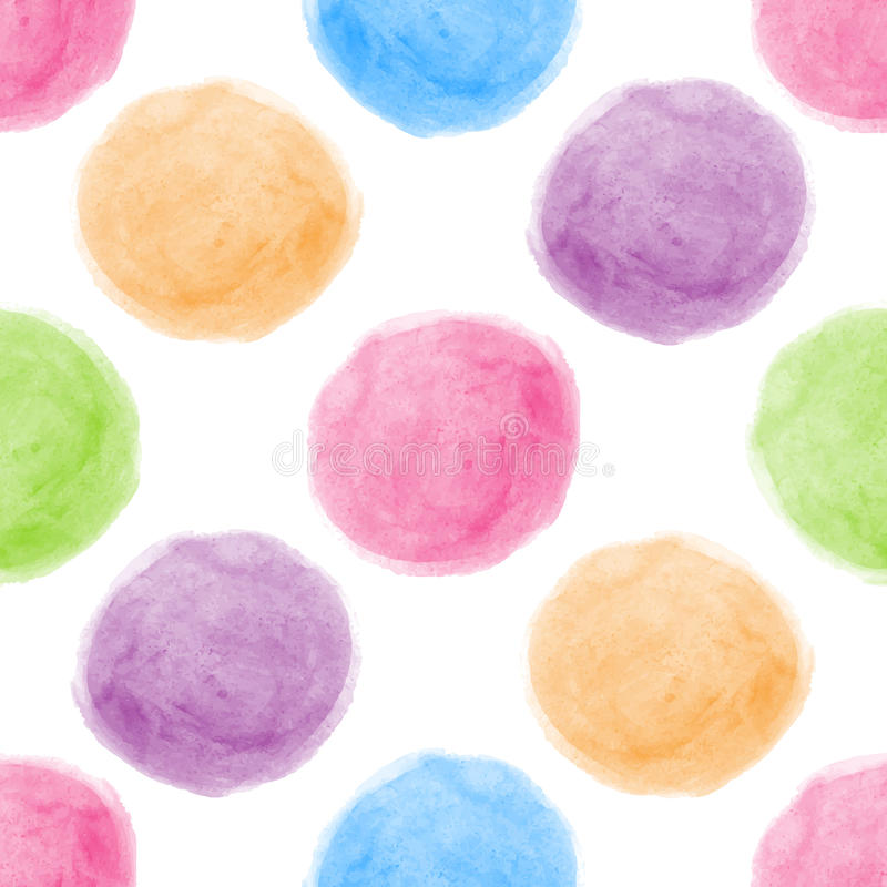 Seamless watercolor dot background. vector illustration