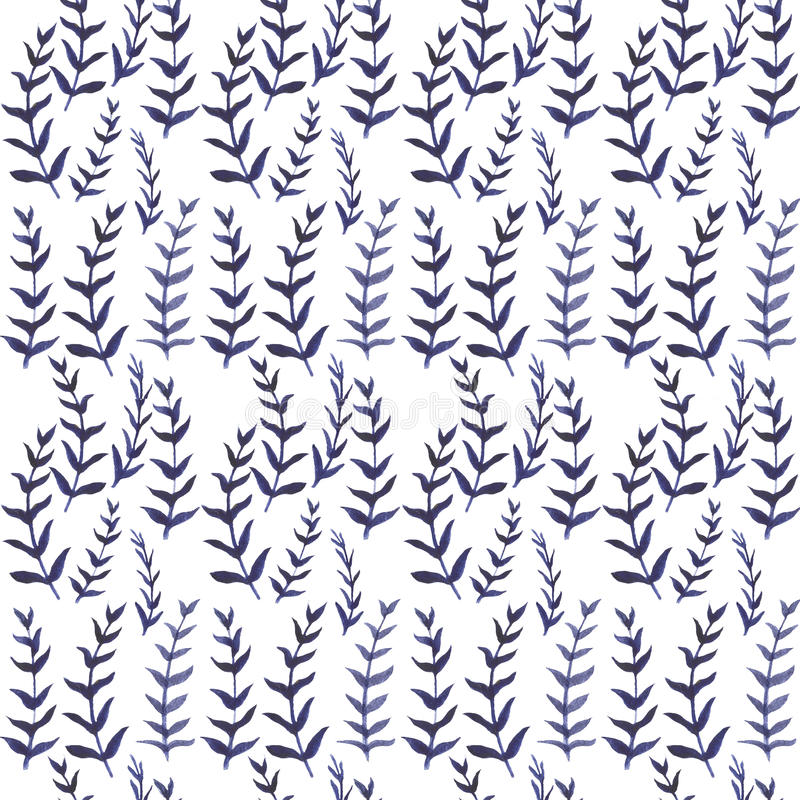 Seamless watercolor floral pattern. Hand drawn watercolor. stock illustration