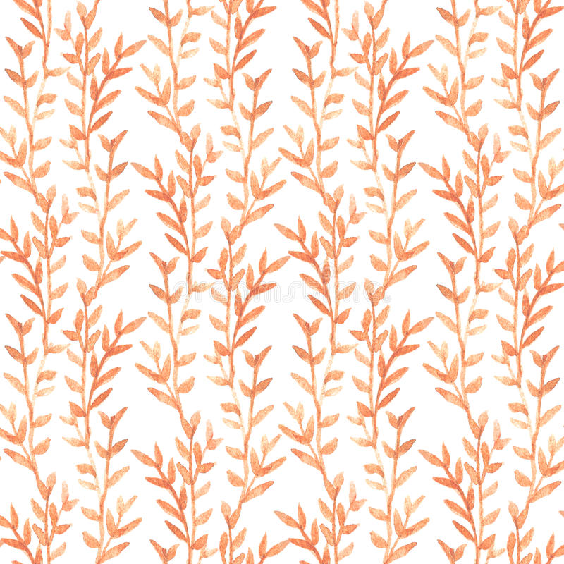 Seamless watercolor floral pattern. Hand drawn watercolor. royalty free illustration