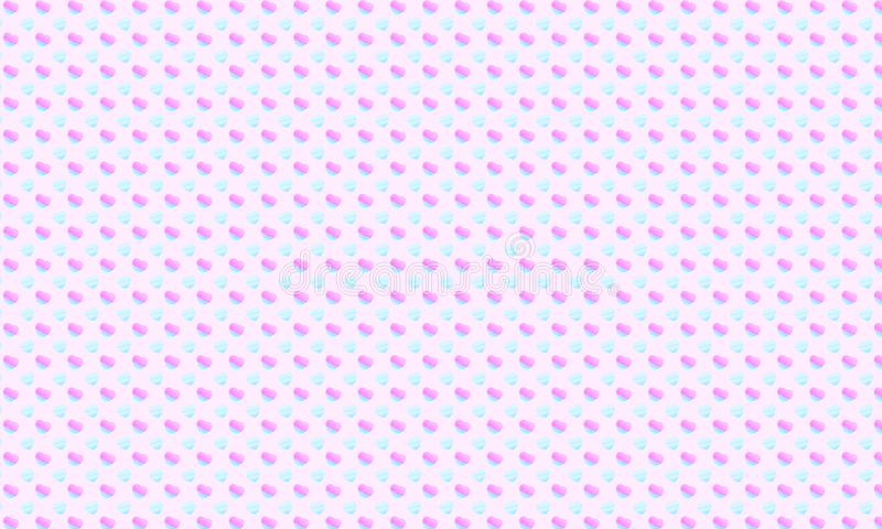 A seamless watercolor mini hearts on pink background for romantic love pattern or sweet wallpaper vector illustration