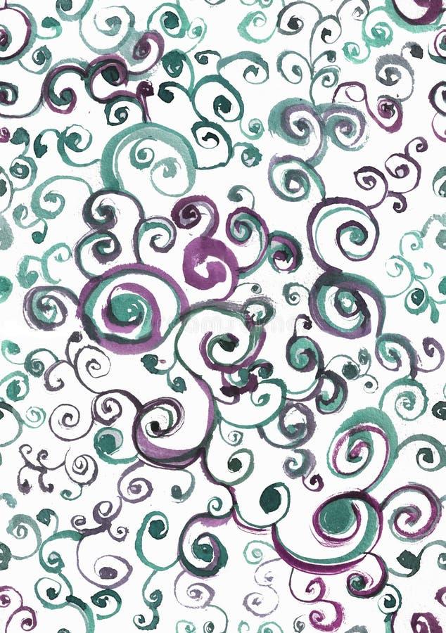 Seamless watercolor pattern, circling. Seamless pattern with watercolor patterns. Print for fabric, wallpaper, textiles and clothi. Ng royalty free illustration