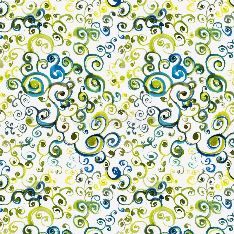 Seamless watercolor pattern, circling. Seamless pattern with watercolor patterns. Print for fabric, wallpaper, textiles and clothi. Ng vector illustration