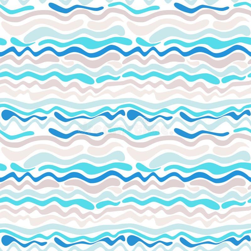 seamless wave för abstrakt modell royaltyfri illustrationer