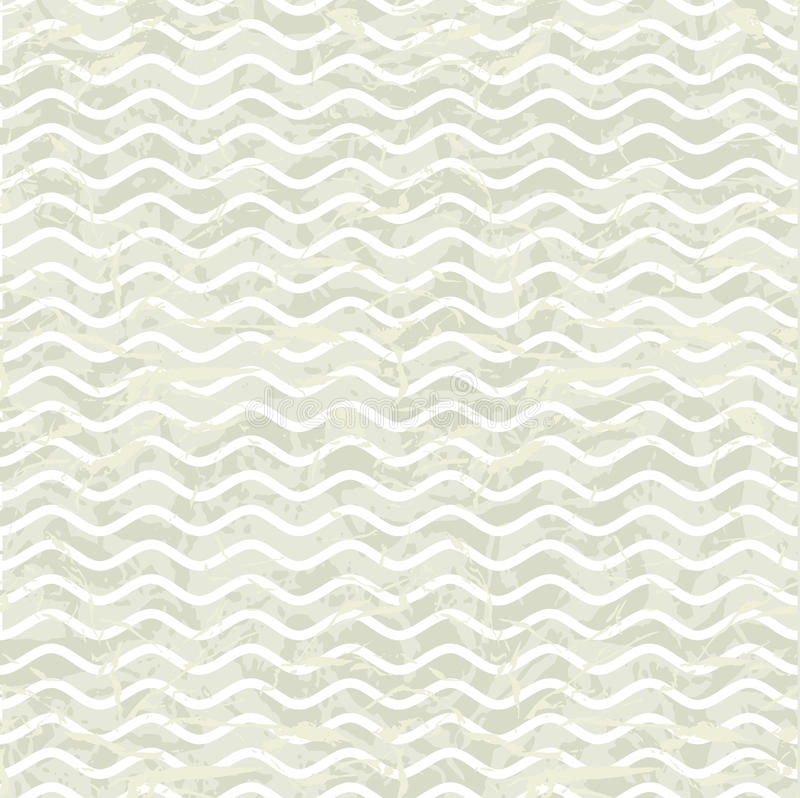 Seamless wave hand drawn pattern. Abstract vintage vector illustration