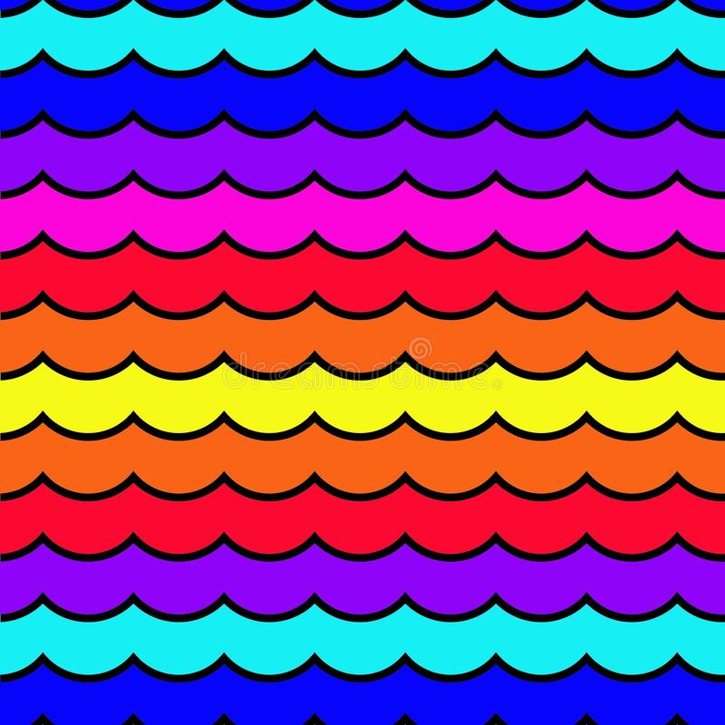 Seamless wave pattern royalty free illustration