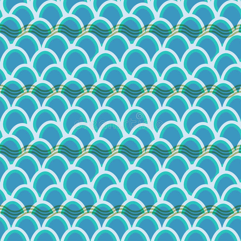 Seamless wave pattern background stock images