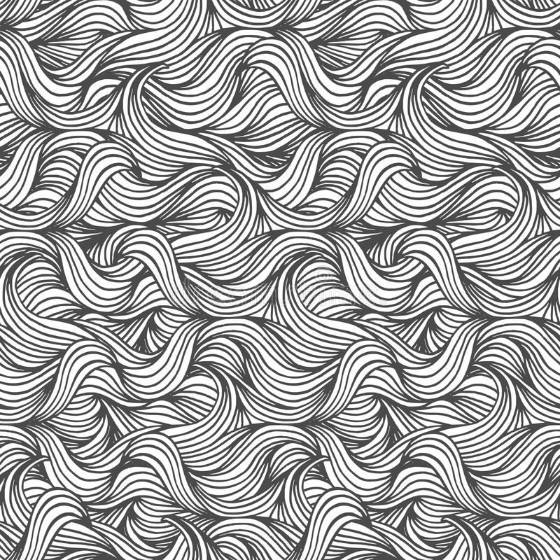 Seamless wave pattern stock illustration