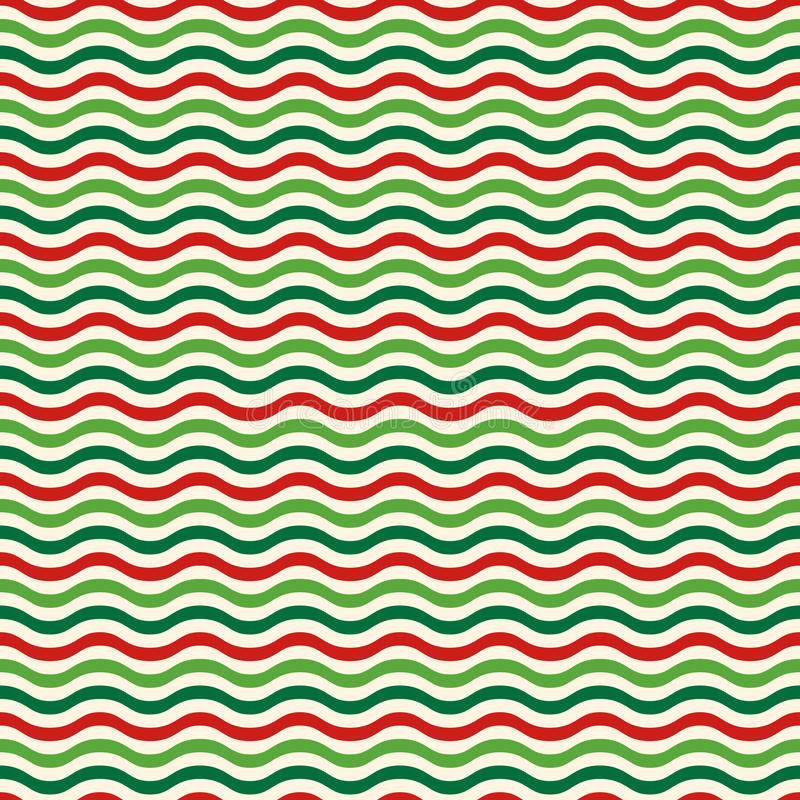 Free Seamless Wave Pattern In Christmas Colors On White Royalty Free Stock Image - 61914446