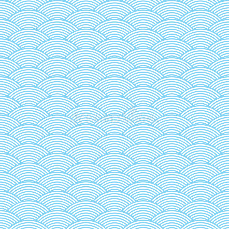 Seamless waves abstract pattern vector illustration