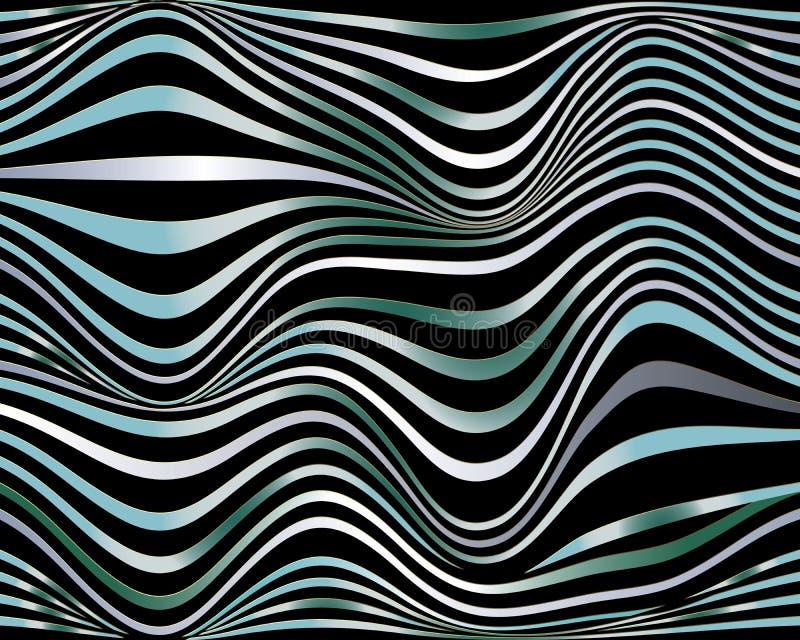seamless waves för modell Moderna dekorativa krabba linjer 3d-backgrou vektor illustrationer