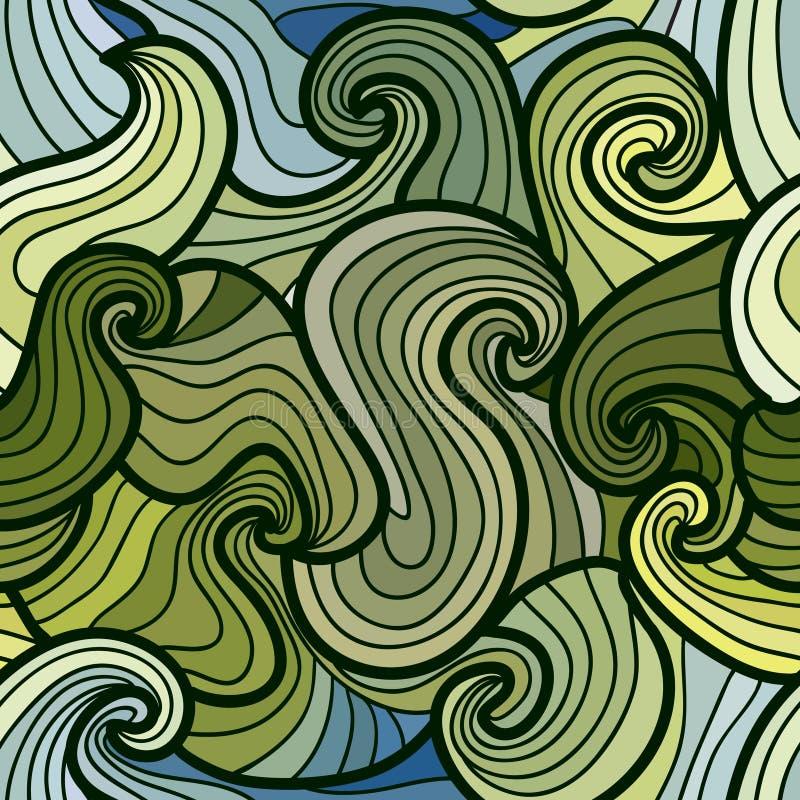 Seamless waves pattern stock illustration