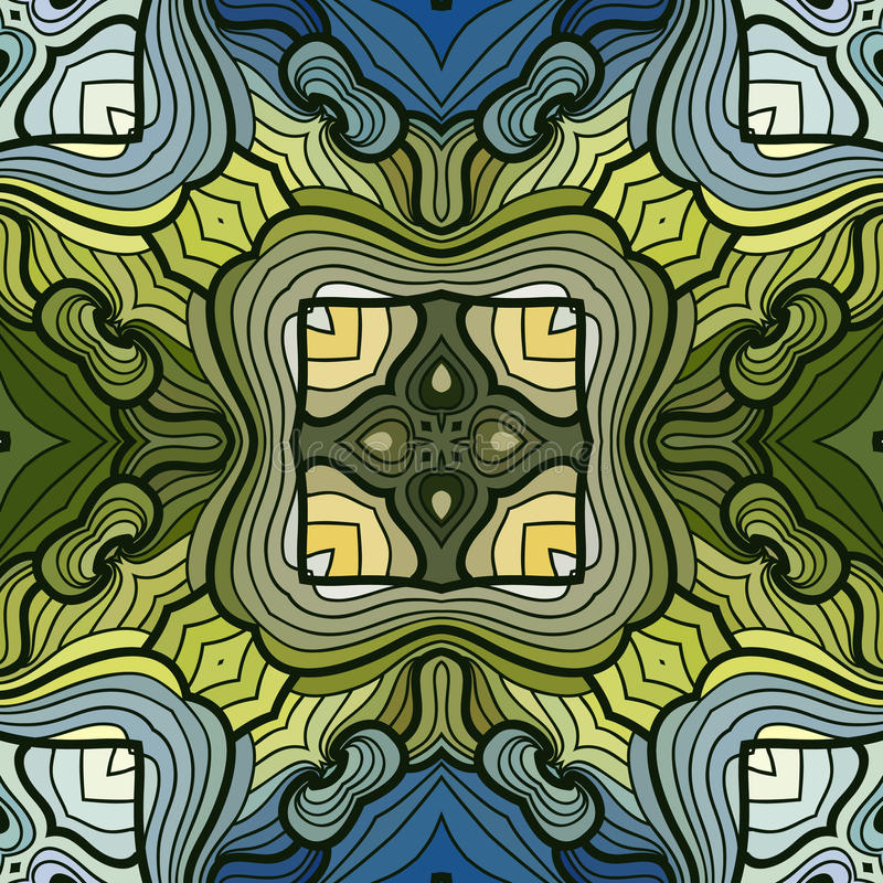 Seamless waves pattern royalty free illustration